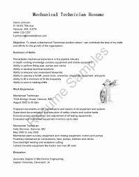 Facilities Maintenance Technician Resume Sample Fresh Sample Resume