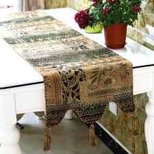 green table runner new classic luxury decorative tassels table runner double layer mint green table runner green table runner