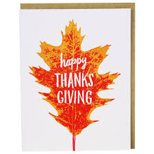 thanksgiving photo cards autumn leaf thanksgiving card happy holidays cards smudge ink