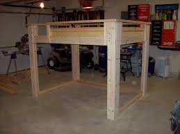 full size loft bed with stairs diy