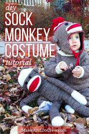diy knit sock monkey costume tutorial awesome idea for infants toddlers and kids