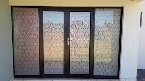 window tinting applied to glass doors