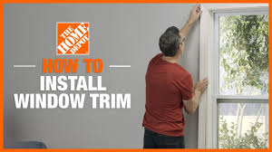 Baseboard trim, crown molding and chair rails. How To Trim A Window The Home Depot
