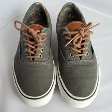 details about vans skate shoes 8 5 mens 10 womens era 59 tc7h dark grey brown leather lace up