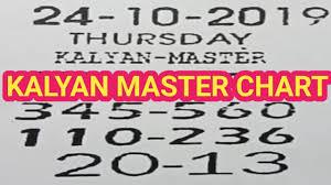 Kalyan Daily Chart 24 10 2019 Kalyan Master Chart Kalyan Daily Dhamaka Chart