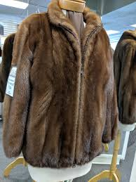 demibuff mink zipper jacket size medium