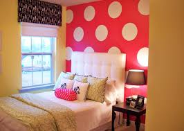 ... Fascinating Ideas For Teenage Girl Room Decor Interior Design :  Minimalist Design Interior Using Red Polka ...