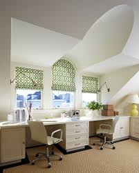 herman miller home office. Herman-miller-desk-Home-Office -Transitional-with-barrel-ceiling-bright-window-treatments-built-in-desk-desk-chairs Herman Miller Home Office C