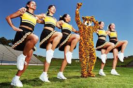 the different types of cheerleaders scholastic cheerleaders performing