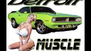 Big tits an muscle cars