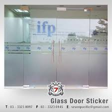 glass door clings glass door sticker sticker printing billboard malaysia vehicle