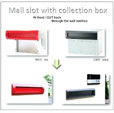through wall mail slots mailbox slot in wall mail drop slots for doors mailbox wall slot through wall
