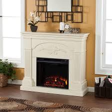 boston loft furnishings 44 75 in w 4700 btu ivory wood veneer fan forced