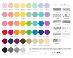 Wedding Color Chart Color Palette Invitations