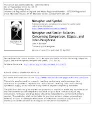 Pdf Metaphor And Simile Fallacies Concerning Comparison Ellipsis