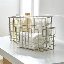 Wire furniture Versatile Treehugger Nickel Wire Baskets Crate And Barrel