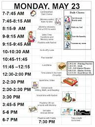 Childrens Dvd Chart Sample Schedule For 5 Year Old Detailed Chore Chart Kids