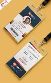 Company Id Badge Template 007 Template Ideas Multipurpose Company Id Card Free Psd
