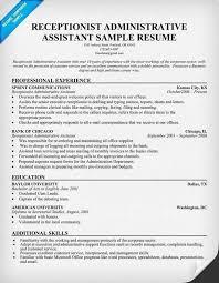 Receptionist Duties For Resume Unique Front Desk Receptionist Resume Mesmerizing Receptionist Duties Resume