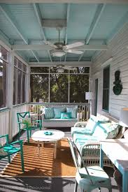 screen porch furniture. house of turquoise southern tides tybee island georgia part 1 painted porch screen furniture a