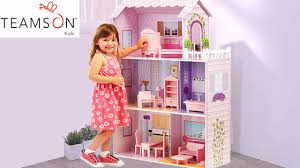 Large Pink Quality Dollhouse Mansion For Girls Barbie Dolls Doll Houses ABC  Children's ToysReview # - YouTube