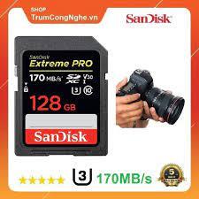 Thẻ Nhớ Máy Ảnh SDXC SanDisk Extreme Pro U3 V30 128GB 170Mb/s - Tốc độ siêu  cao