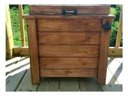 standing outdoor cooler cart ice chest patio ideas rolling party medium size of portable deck beverage qt wood plans co