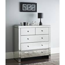 mirrorred furniture. Mirrored 2 Over 3 Chest Of Drawers Storage Cabinet 5 Drawer Mirrorred Furniture