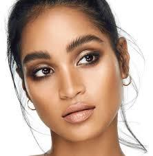 natural makeup look natural brows glow skin makeup on brown skin women of color pin amerishabeauty