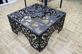 Iron Gate Coffee Table Plasma Cut Table Love Visit Stonecountyironworkscom For More