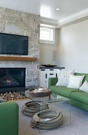 glass waterfall end table waterfall coffee table family room transitional with concrete concrete hearth glass waterfall