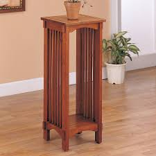 Coaster Fine Furniture 30-in Oak Indoor Square Wood Plant Stand
