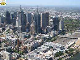 eureka skydeck southbank north easterly view across federation square and melbourne cbd