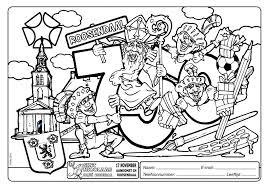 Kleurwedstrijd Sintnicolaasroosendaalnl 55 Beste Kleurplaat Sint