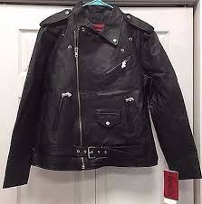 details about excelled men s classic leather motorcycle jacket 3xl black
