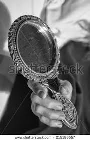 woman holding hand mirror. Detail Of Woman Hand Holding A Mirror O