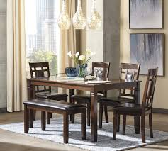 dining room table set. Bennox - Brown Dining Room Table Set (6/CN)