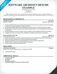 Software Architect Resume Examples Architect Resume Resumes