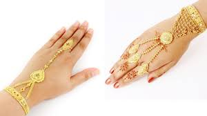 Gold Ring Bracelet Designs Gold Finger Ring Bracelet Designs
