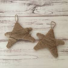 Rustic Christmas Ornaments Twine Star Ornament Star Ornament Twine Ornaments Rustic