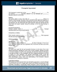 Prenuptial Agreement Free Prenup Sample Pdf Word Download