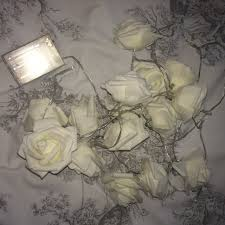 Cream Rose Fairy Lights 2 Different Cream Rose Fairy Lights To Sell 12 For Depop