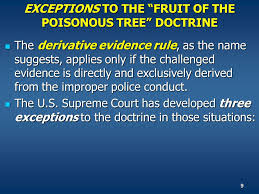 Law Enforcement Process The First Contact In The Criminal Justice Fruit Of Poisonous Tree Doctrine Definition