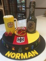 German Themed Birthday Cake Cakecentralcom