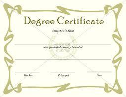 Graduation Certificate College Template Free Degree Templates