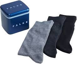 Falke Socks Size Chart Falke Socks Gift Box 3 Pack Grey Black 13042 Order Online