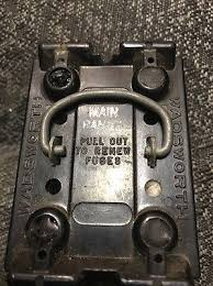 wadsworth 30 amp fuse holder pull out • 35 00 picclick wadsworth 60 amp range fuse panel pull out fuse holder pullout