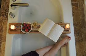 relax and enjoy reading good book without worrying about it getting wet with a bathtub