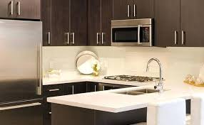 kitchen backsplash white subway tile brown cabinets n77 brown