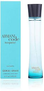 <b>Armani Code Turquoise</b> EDT for women, with spray, 75 ml: Amazon ...